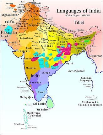 印度语言地图